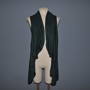 COLDWATER CREEK Green Waterfall Sweater Vest [F7]